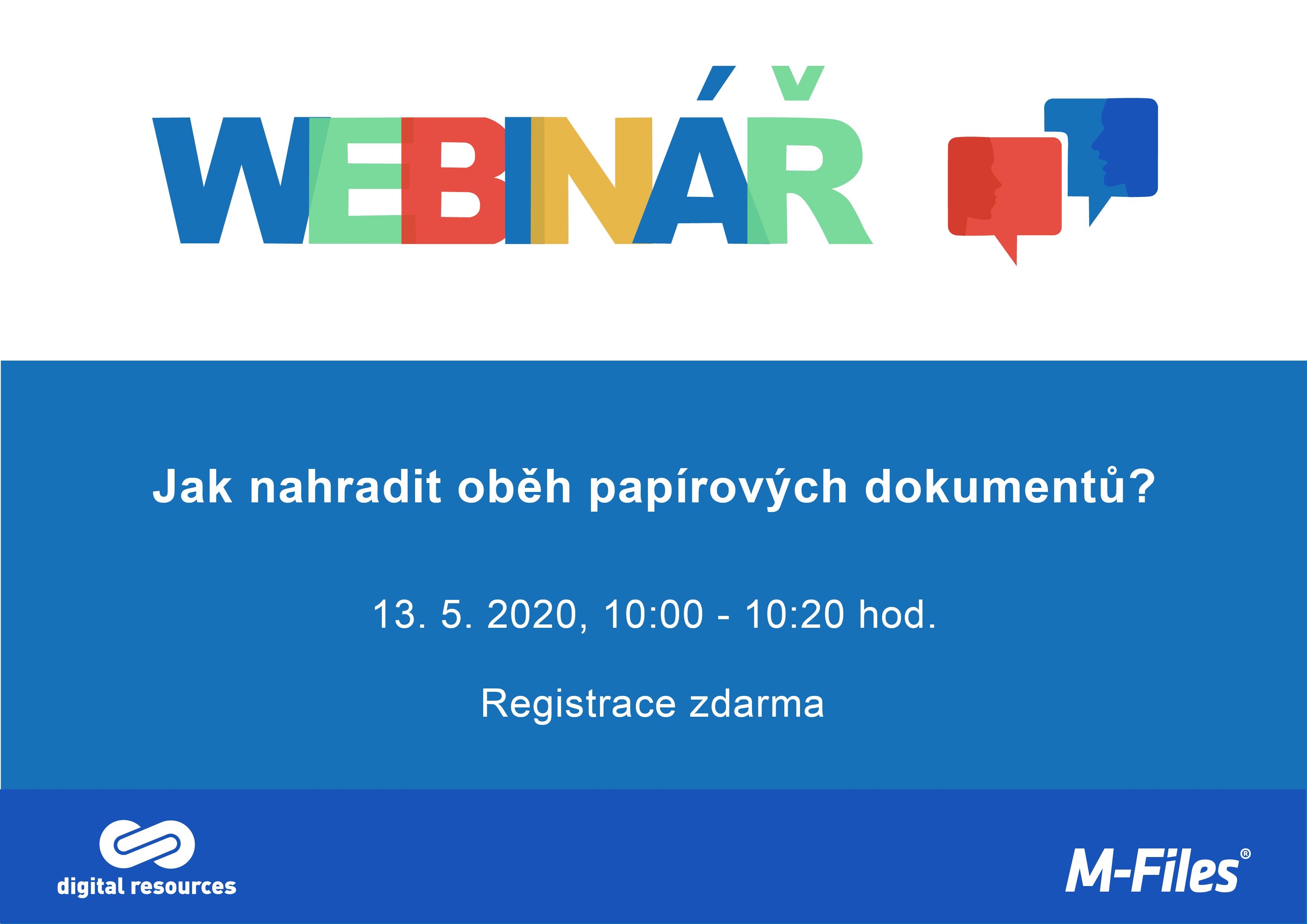 Webinar 13. 5. 2020